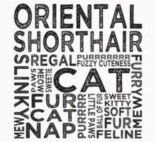 Oriental Shorthair Cat Typography Kids Clothes