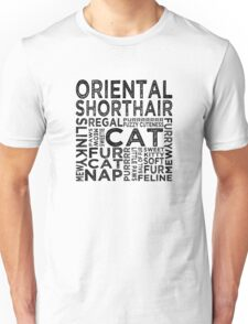 Oriental Shorthair Cat Typography Unisex T-Shirt