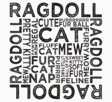 Ragdoll Cat Typography by Wordy Type