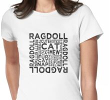 Ragdoll Cat Typography Womens Fitted T-Shirt