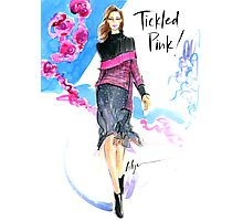 Tickled Pink Photographic Print