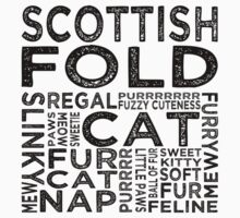 Scottish Fold Cat Typography Kids Clothes