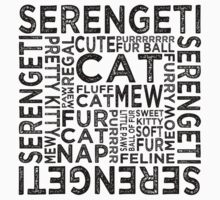 Serengeti Cat Typography Kids Clothes
