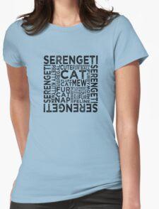 Serengeti Cat Typography T-Shirt