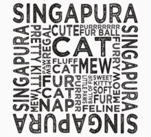Singapura Cat Typography Kids Clothes