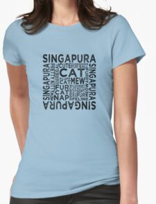 Singapura Cat Typography T-Shirt