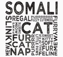 Somali Cat Typography by Wordy Type