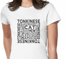 Tonkinese Cat Typography Womens Fitted T-Shirt