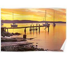 Battery Point Sunrise HDR - Sandy Bay, Tasmania, Australia Poster