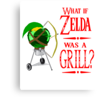 What if Zelda was a Grill? Canvas Print