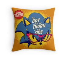 The Smiths 8-bit Project - The Hedhehog With a Thorn in His Side Throw Pillow