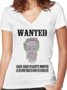 True Detective Wanted Poster Women's Fitted V-Neck T-Shirt