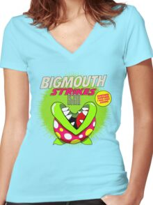 The Smiths 8-bit Project - Bigmouth Strikes Again Women's Fitted V-Neck T-Shirt