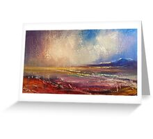 rainy evening on the Inch Beach Greeting Card