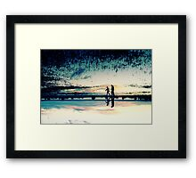 Walking the mile Framed Print