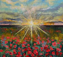 Starlight Poppies by Michael Creese