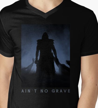 Ain't No Grave Mens V-Neck T-Shirt