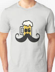 Beer Mustache Unisex T-Shirt