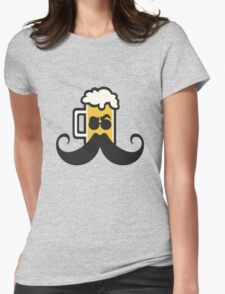 Beer Mustache Womens Fitted T-Shirt