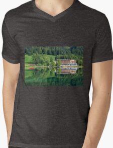 Hintersee, Berchtesgadener Land Mens V-Neck T-Shirt