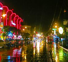 Fisherman's Wharf in the Rain by David Denny