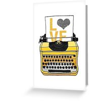Typing LOVE Greeting Card