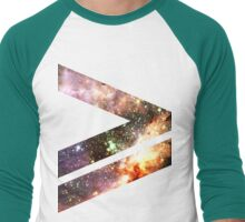 Greater Than [Messier 17] | Mathematix Men's Baseball ¾ T-Shirt