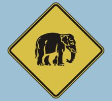 Caution Elephants Crossing ⚠ Thai Road Sign ⚠ by iloveisaan