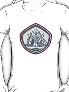 Fireman Axe Hose Hook Pike Pole Shield T-Shirt