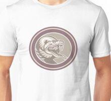 Rattle Snake Head Retro Unisex T-Shirt