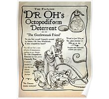 Dr. Oh's Octopodiform Deterrent - Steampunk Tentacles Poster