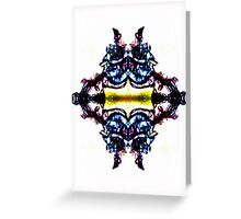 The four-way mirror. Greeting Card