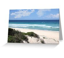 At the beach, Leave only footprints, take only pictures, and kill nothing but time. Greeting Card