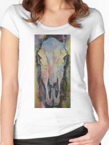 Horse Skull Women's Fitted Scoop T-Shirt