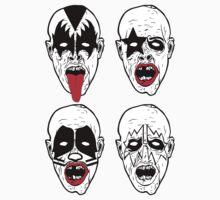 Kiss Rock Band Zombies by krazykjb05