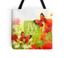 JW.ORG(Red butterflies) Tote Bag
