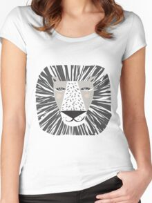 Friendly Lion Women's Fitted Scoop T-Shirt