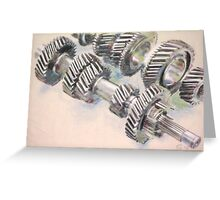 a bouquet of gears Greeting Card