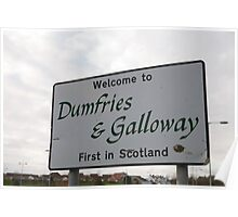 Welcome to Dumfries & Galloway sign in Scotland Poster