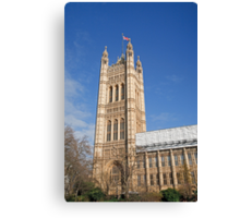 Blue sky over Houses of Parliament Canvas Print
