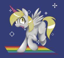 [collab] Grey Fluffy Unicorn Derping on rainbows by dreamyn