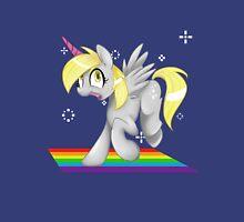 [collab] Grey Fluffy Unicorn Derping on rainbows Unisex T-Shirt