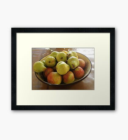 Fruit bowl Framed Print