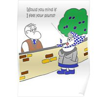 Grandma feels Plums! Poster