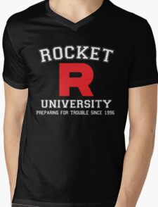 Team Rocket University Mens V-Neck T-Shirt