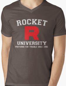 Team Rocket University Mens V-Neck T-Shirt