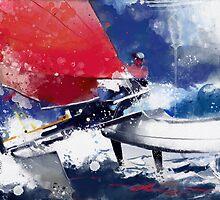 Agostino in regata by Alessandro Andreuccetti