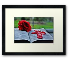 Book-Obects Framed Print