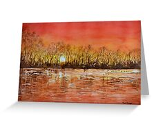 Sunset, by Paul Sagoo Greeting Card