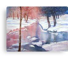 River scene with snow by Paul Sagoo Metal Print